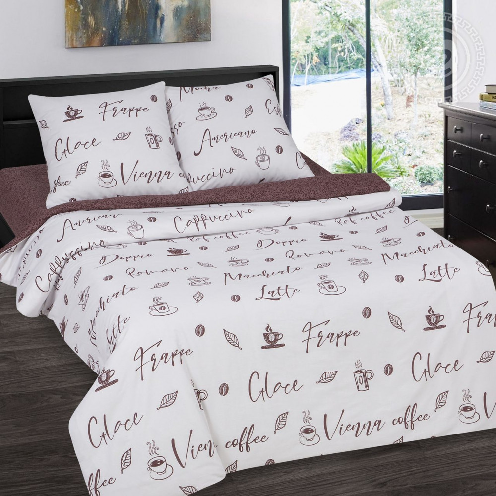 Постельное белье Мокко поплин ТМ  Комфорт-текстиль  (Полуторный)