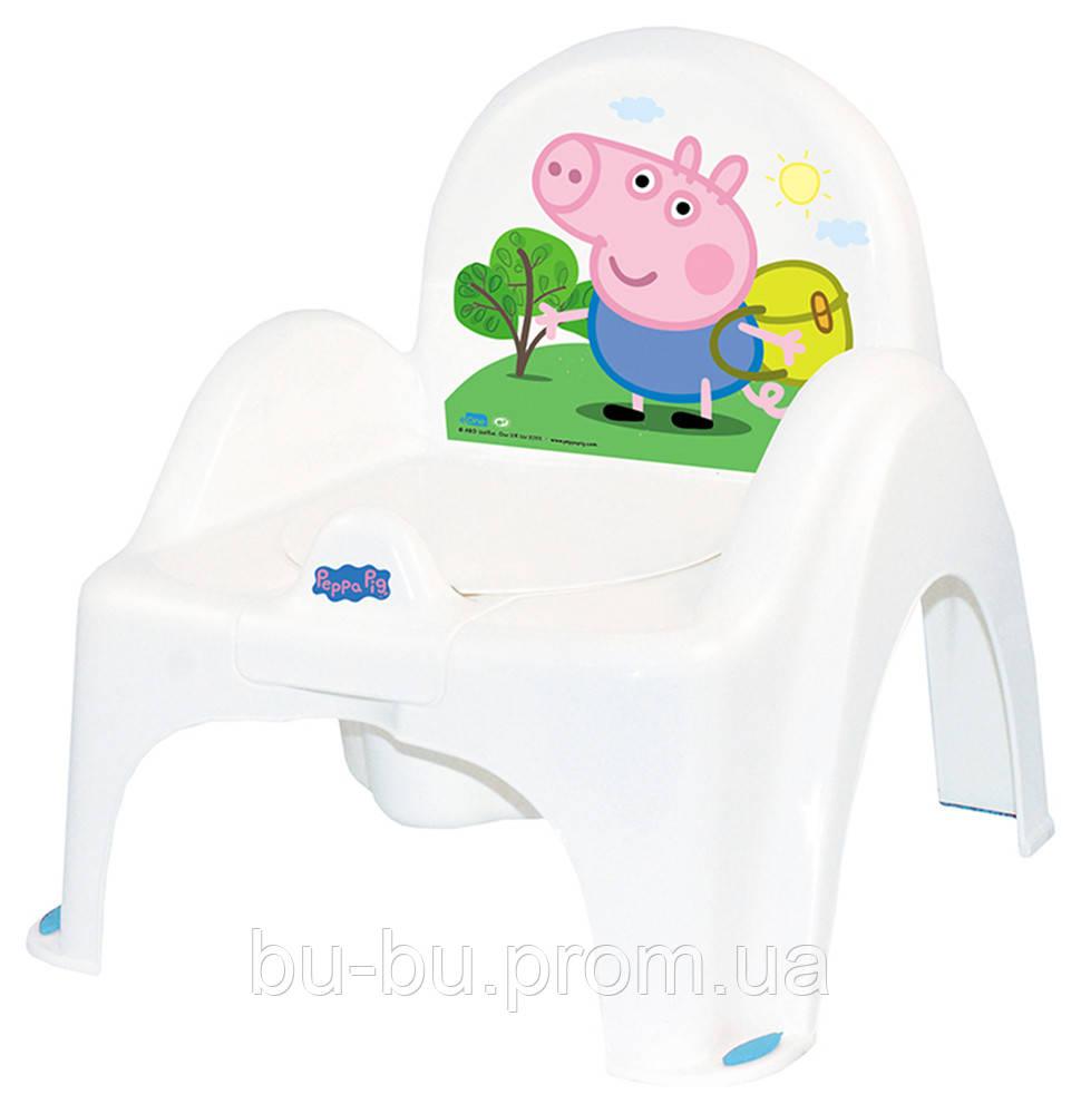 Горщик-стільчик Tega Peppa Pig PO-068 with music 103-N white-blue