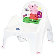 Горщик-стільчик Tega Peppa Pig PO-068 with music 103-R white-pink