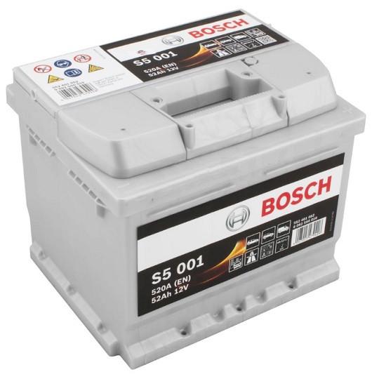 Аккумулятор Bosch S5 Silver Plus 6СТ-52 H Евро