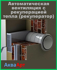 Автоматическая вентиляция с рекуперацией тепла (рекуператор)