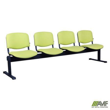 Офисный стул Изо 4-х рядный каркас чёрный/кожзам Неаполь AMF