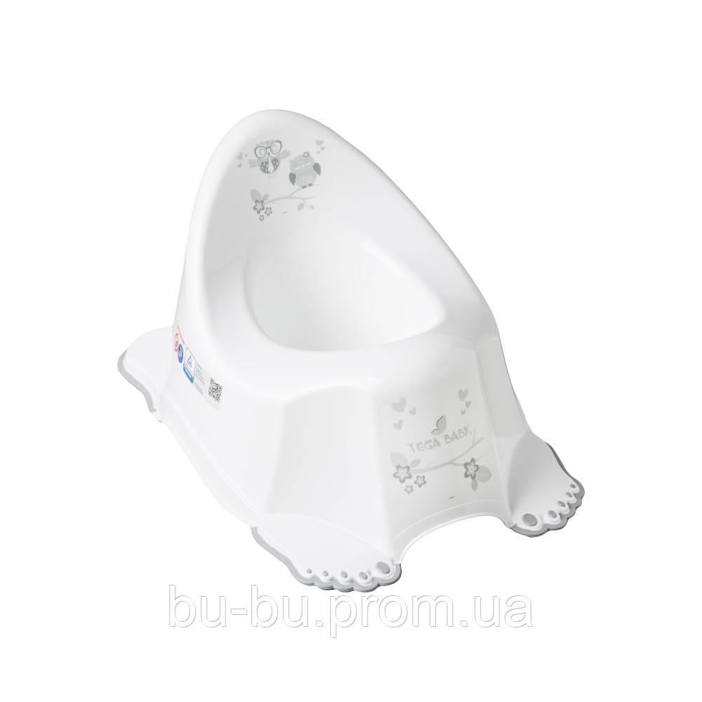 Горщик Tega Owl SO-001 нековзний 103 white