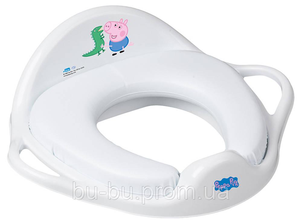 Накладка на унитаз Tega Peppa Pig PP-020 Soft мягкая 103-N white-blue