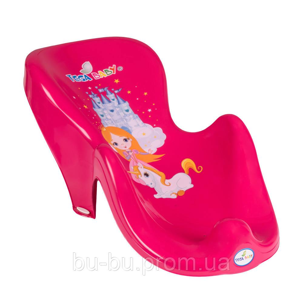 Горка для купания Tega Little Princess LP-003 нескользящая 123 pink
