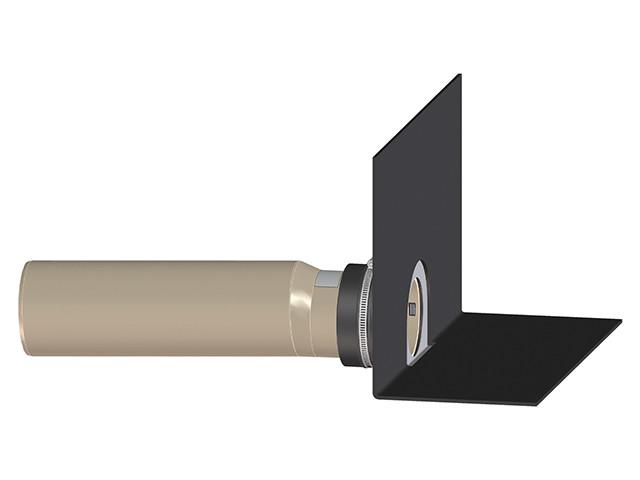Парапетная воронка Dallbit DN110 мм с клином, фартуком из полимербитумного материала и отводящей трубой из ПП