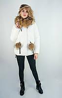 Куртка женская зимняя Hailuozi. Белый цвет. Размер L