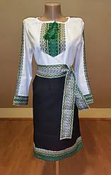 """Український костюм """"Соломія"""" зелений"""
