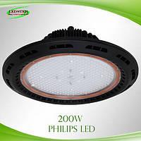 Светодиодный влагозащищенный промышленный светильник VS-UFO-PM-200W Philips LED