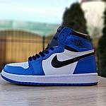 Мужские кроссовки Nike Air Jordan 1 Retro (сине-белые), фото 4