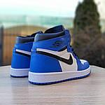 Мужские кроссовки Nike Air Jordan 1 Retro (сине-белые), фото 6