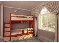 """Детская двухъярусная кровать-чердак дм140 """"Марсель"""""""
