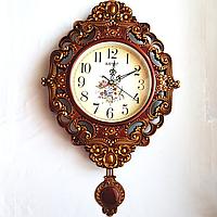 Настенные часы ходики с маятником фигурные (50х30 см) [Пластик, Под стеклом]