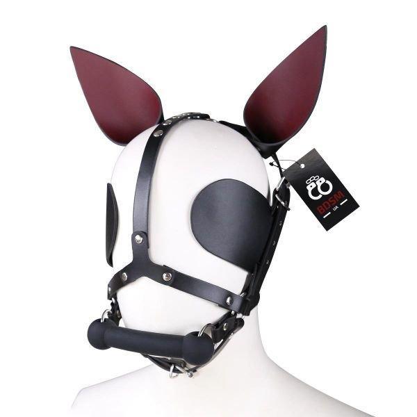 Фетиш маска кролика, кожаная маска PlayBoy