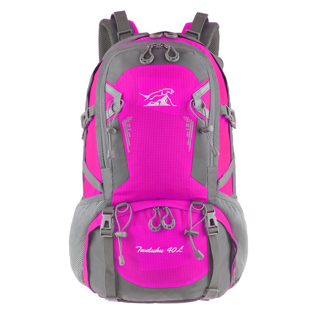 Рюкзак туристический TANLUHU 50х32х22 розовый 40л Polyester Oxford Rip Stop PU 600D/1600D   кс631роз