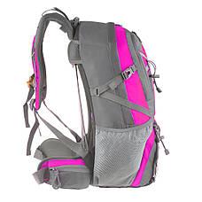 Рюкзак туристический TANLUHU 50х32х22 розовый 40л Polyester Oxford Rip Stop PU 600D/1600D   кс631роз, фото 3