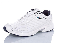Кроссовки мужские кожаные Restime белые, размеры в наличии ► [ 42 43 44 45 ]