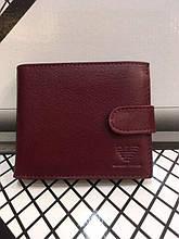 Шкіряний чоловічий гаманець Armani, Armani з коробкою, портмоне Armani