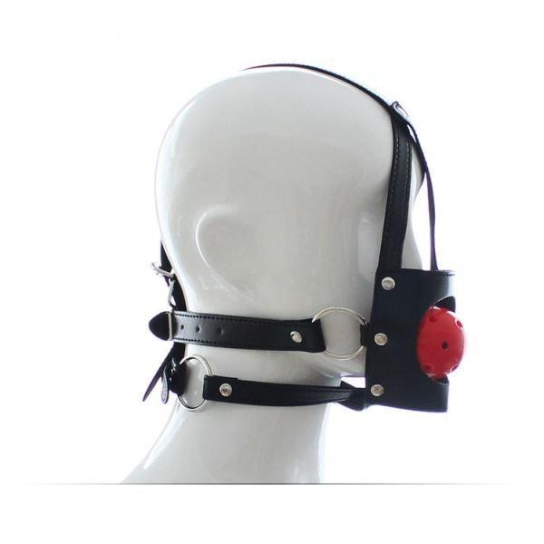 Унисекс дышащий кляп с ремнями для фиксации