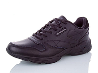 Кроссовки Restime мужские кожаные чёрные, размеры в наличии ► [ 41 42 43 44 45 ]