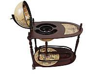 Глобус бар Гранд Презент со столиком Коричневый