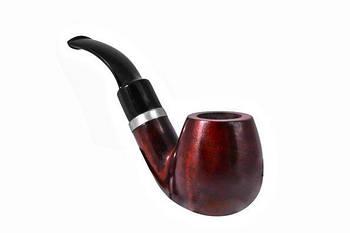 Курительная трубка B&B 1.7 x 3 см Черная с коричневым