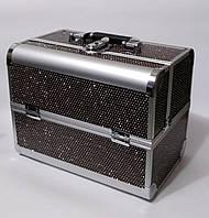 Б'юті алюмінієвий кейс валізу з ключем кави стрази гламур для майстрів