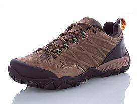 Туристические кроссовки Restime мужские кожаные коричневые, размеры в наличии ► [ 41 42 43 44 45 ]