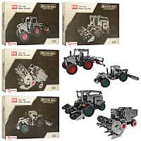 Конструктор SW-038-9-0-1 (12шт) металл, сельхозтехника, от 692дет, 4вида, в кор-ке, 36,5-23-4см