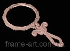 Зеркало ажурное Круг 1-163117 розовый
