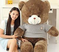Большой плюшевый медведь 180 см, мягкая игрушка в свитере