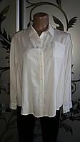 Женская белая базовая рубашка, 46-48