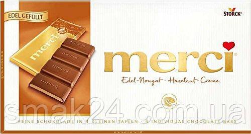 Шоколадные конфеты Merci Edel Nougat  Storck 100г Германия