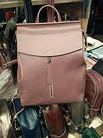 """Женский кожаный рюкзак, сумка для формата А4 """"Алиса Pink"""""""