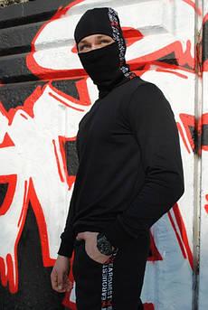 Шапка чёрная с лампасом Quest Wear