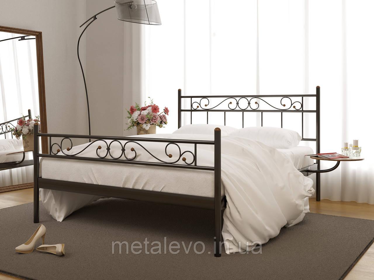 Металлическая кровать с изножьем ЭСМЕРАЛЬДА -2