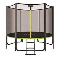 Детский батут с защитной сеткой лестницей и ножками. До 180 кг. Диаметр: 244 см. Высота: 150 см. MS 2920-2