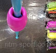 Булавы гимнастические детские 35 см (каучук, пластик), фото 2