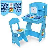 Детская парта Bambi. Регулировка высоты парты и стула. Алфавит. Материал: ДСП. M 0324-4