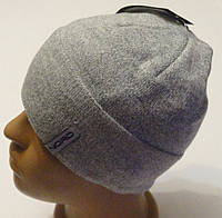 Молодежная мужская шапка Норд светло-серый меланж