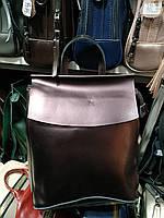 """Шкіряна сумка-рюкзак (трансформер) """"Анжеліка Bright Brown"""", фото 1"""