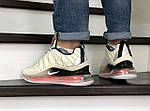 Мужские кроссовки Nike Air Max 720 (бежевые) - термо, фото 3