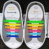 Шнурки силиконовые для подростков и взрослых цветные радуга (12 штук)