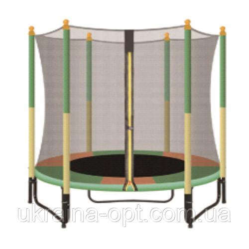 Батут детский с ножками и защитной сеткой. Нагрузка 160 кг. Profi MS 2919-2. Цвет: зеленый. Для детей от 3 лет