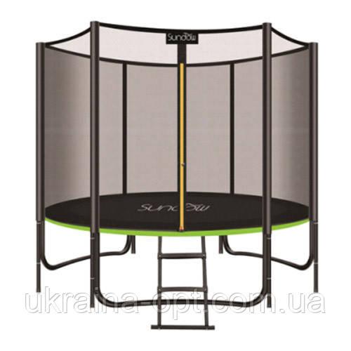 Батут с защитной сеткой и лестницей. Диаметр батута:183 см. Нагрузка 180 кг. MS 2920-1