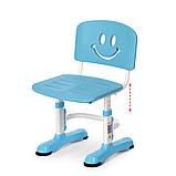 Детская парта со стульчиком. Регулируемый столик и стульчик. Ширина,глубина,высота-100х60х116 см. M 4091-1, фото 3