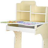 Детская парта со стульчиком Bambi. 4 положения столика. Ширина: 69 см. Глубина: 72см. Высота: 116 см. B 2071-1, фото 2