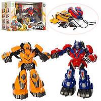 Боевые роботы трансформеры. Работает на батарейках. 2 боевых робота, 2 пульта управления, зарядка. KD-8813
