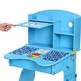 Детская парта Bambi. Регулировка высоты парты и стула. Алфавит. Материал: ДСП. M 0324-4, фото 6