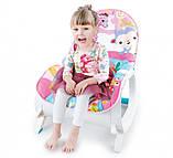 Детское кресло-качалка 2в1. Веселые мелодии. Функция вибрации. Для  деток от рождения и до 3 лет. 7288, фото 4